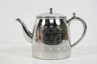Vintage World Market Perfectly Brewed Silverplate Lidded Teapot