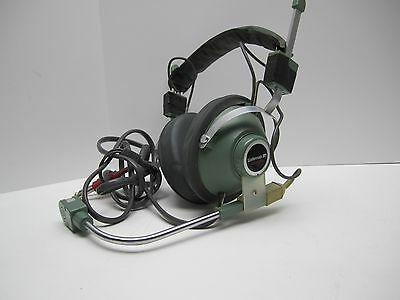 RARE Wollensak 3M A-0529 A-O529 Radio Com Headset Phones & Mic TESTED WORKING