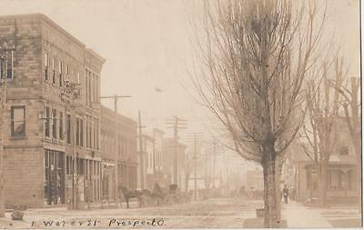 RPPC Prospect Ohio East Water St~Commercial Buildings~Horse & Buggies c1907 VG+