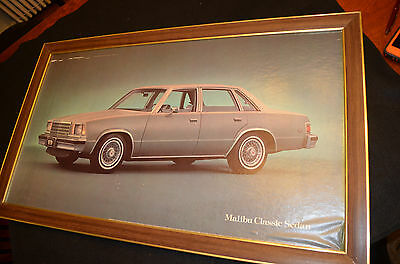Vintage Original 1979 Chevrolet Dealer Poster Malibu Classic Sedan