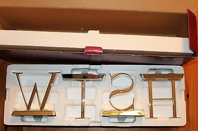 Pottery Barn WISH Stocking Holders Hangers Silver Chrome Finish