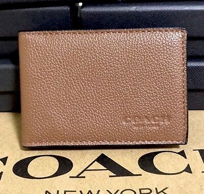 Coach Men's Sport Calf Leather Id  Slim Card Case