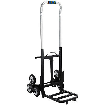Portable Stair Climbing Folding Cart All-Terrain Handle Comfortable Height