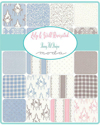 Patchwork/quilting Fabric Moda Lily & Will Revisited Charm Pack