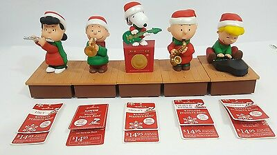Hallmark 2011 2012 Peanuts Gang Band Wireless Set Of 5 Lucy Schroeder Linus Nwt