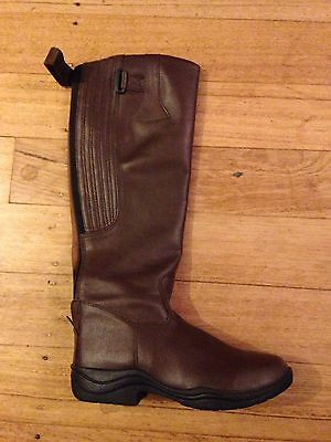 Shires Ladies Size 10au Pleather Waterproof Stable/riding Long Boots