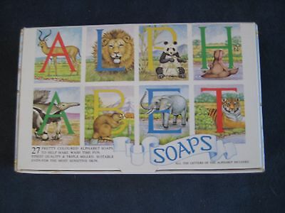 Collectable Vintage Alphabet SOAP set in box, 1984