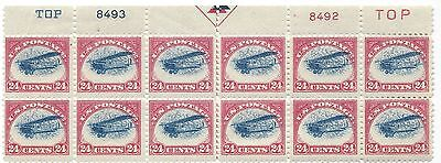 C3 AIRMAIL PB of 12, Mint, NH, High Quality Scans!