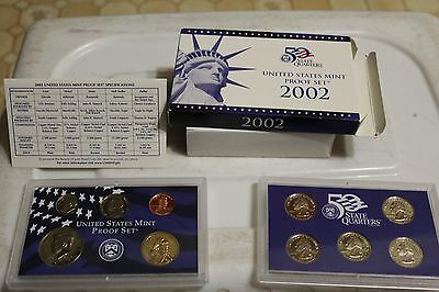 2002 United States US Mint 10pc Coin Proof Set
