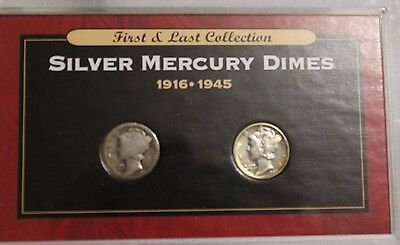1916-1945 first and last  silver mercury dimes