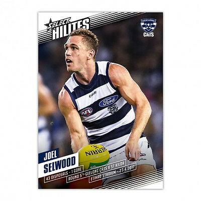 2017 AFL Select HILITE Card JOEL SELWOOD Geelong Cats SH5 RARE