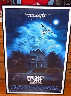 Fright Night (1985) 24X36 Poster Signed By 7 Cast & Crew Members