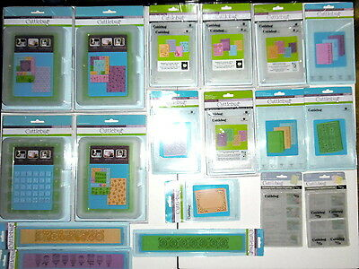 Large Lot NEW Cuttlebug Embossing Plates & Folders All-In-One & More SEE PHOTOS
