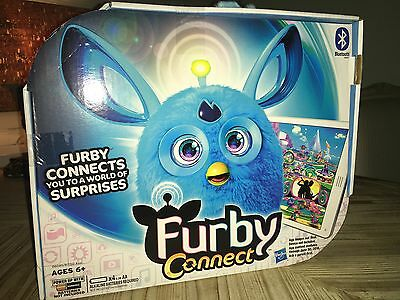 Furby connect New in the box blue bluetooth connects to world app fluffy hatches