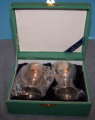 Lovely vintage NMIB Asian Sterling Small Stems Goblets in Presentation Box