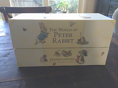 The World of Peter Rabbit The Complete 23 Book Box set (white hard cover)