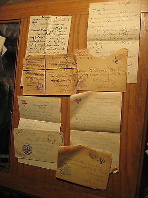 4 WW1 Soldiers Letters Written from France 1918 R.E. Newell 149th FA Rainbow