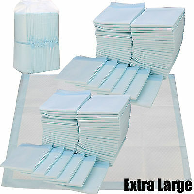 100 Large Puppy Training Trainer Train Pads Toilet Pee Wee Mats Dog Cat 60X45 Cm