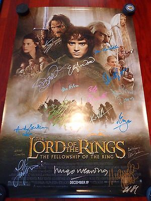 Lord Of The Rings Fellowship Signed Autographed Movie Poster X21
