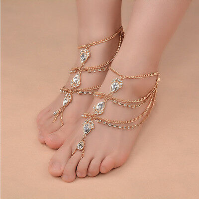 1pc Boho Barefoot Sandal Beach Anklet Foot Chain Jewelry Ankle Bracelet MAD