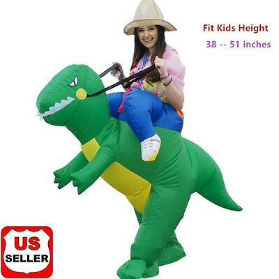 Inflatable Riding Dinosaur Costume - Fan Operated Halloween Costume - Kids Size