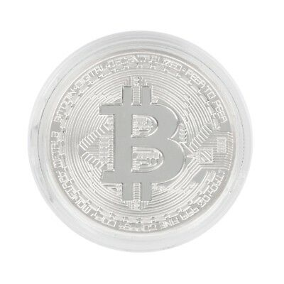 Silver Plated Bitcoin Coin Collectible Art Coin Directly to your wallet K6
