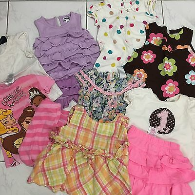 LOT OF 10pcs ITEMS BABY GIRL 9m -3t CLOTHING (E)