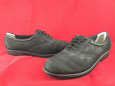 SAS Tripad Comfort Black Suede Casual Walking Oxford Shoes Womens SIZE 9.5N