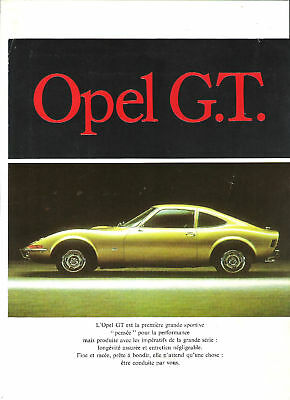 OPEL GT - 1970 ? catalogue brochure prospekt folder dépliant prospectus catalog
