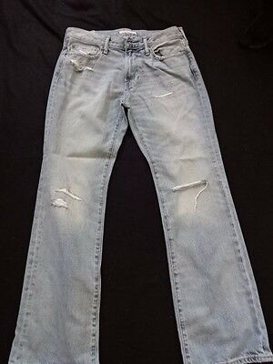 Men's Abercrombie and Fitch A&F Distressed Blue Jeans Bootcut W29 L30