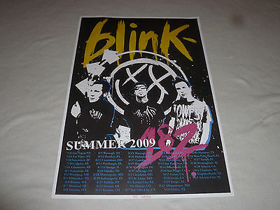 Summer 2009 Blink 182 Concert Poster Vip Package Rare No 1 Limited Reunion Tour