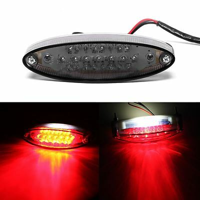 Universal Motorcycle Smoke 28 LED Rear Tail Brake Stop Lamp License Plate Light
