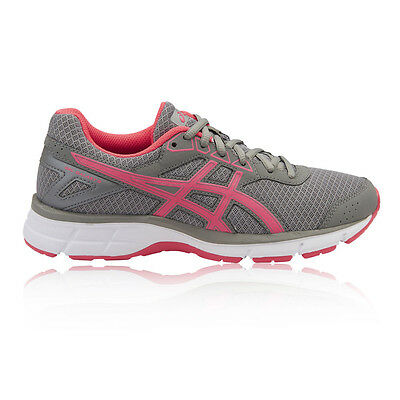 Asics Gel Galaxy 9 Womens Pink Grey Cushioned Running Sports Shoes Trainers