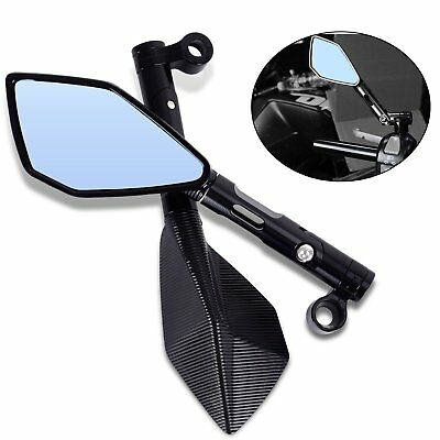 2x 8MM/10MM BLACK UNIVERSAL SCOOTER/MOTORCYCLE REAR-VIEW MIRRORS BIKE/MOTORBIKE