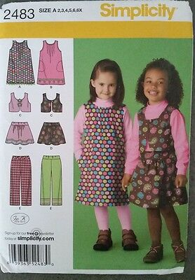 Simplicity 2483 (size 2,3,4,5,6,6X) - children's sewing pattern