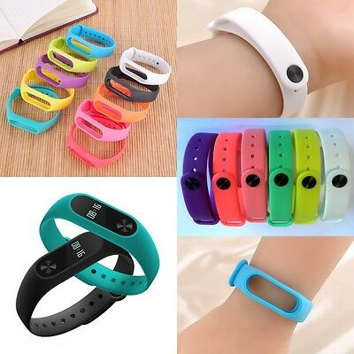 10 Clrs Silicon Wrist Strap Wrist Band Bracelet Replacement For Xiaomi MI Band 2