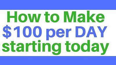 How To Make Money Online $100 A Day Fast From Home $3000/month In Paypal Account