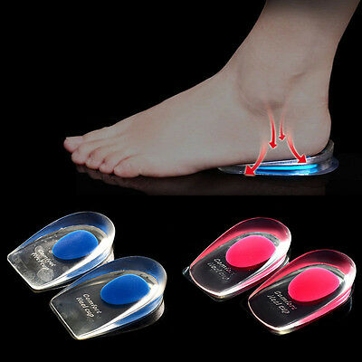 Heel Support Pad Cup Gel Silicone Shock Cushion Orthotic Insole Plantar Care KY