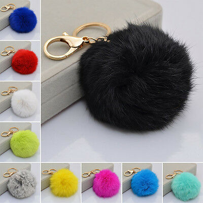 Hot 1PCS Rabbit Fur Elegant Keychain Tail Accessories Women Pendant Tassel Bag