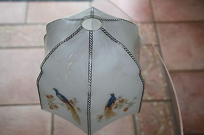 Antique Victorian Edwardian hand painted lamp shade very good condition