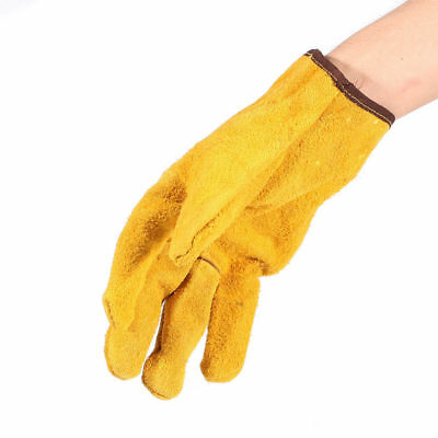 2 XWelding Welder Work Soft Cowhide Leather Plus Gloves For Protecting Hand