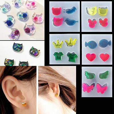 DIY Clear Silicone Mold Making Jewelry Earrings Resin Casting Mould Craft Tool