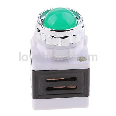 Light Indicator Lamp 240V Panel Mount Signal LED Green Sign for Machine