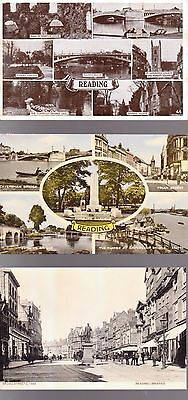 7 Postcards Of Reading,berks.uk.