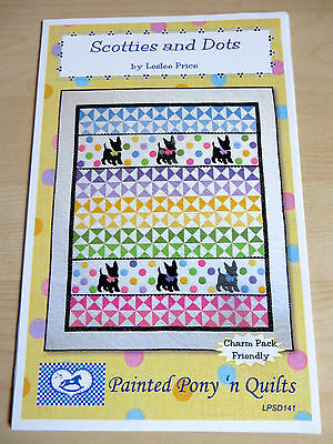 Scotties And Dots Patchwork And Applique Quilt Pattern From Usa