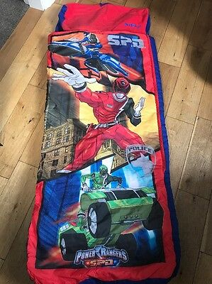 Childrens Kids Camping Ready Bed Power Rangers