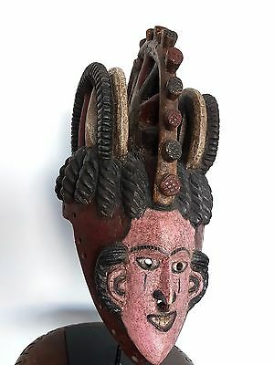 Old african mask Igbo  Nigeria Africa  - CERTIFICATE OF AUTENTICITY