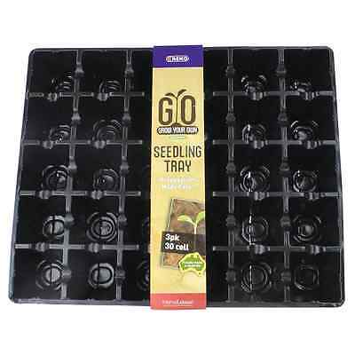 REKO GYO Black 30-Cell Grow Your Own Seedling Tray - 3 Pack