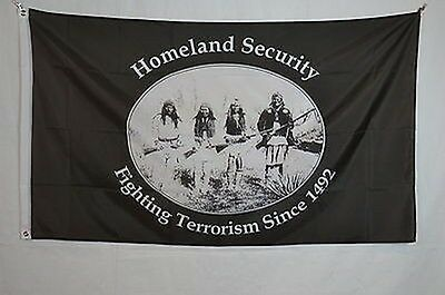 Homeland Security Indian Native American reserve FLAG Poster Banner 2x3 feet