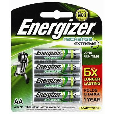 Energizer AA Recharge Batteries - 4 Pack